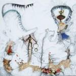"""Daring to Fly, Mix Media, 20""""x20"""", By the artist Yael Zahavy-Mittelman"""