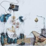 "Looking Through The Glass of Time, Mix Media, 20""x20"", By the artist Yael Zahavy-Mittelman"