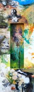 "The Flamenco Dancer and The Fairy, Mix Media, 36""x12"", By the artist Yael Zahavy-Mittelman"
