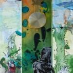 "The Magical White Horse, Mix Media, 36""x12"", By the artist Yael Zahavy-Mittelman"