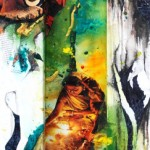 """The Wise and Ancient, Mix Media, 36""""x12"""", By the artist Yael Zahavy-Mittelman"""